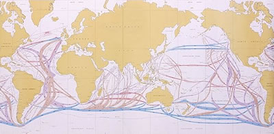Figure 3: International shipping routes.